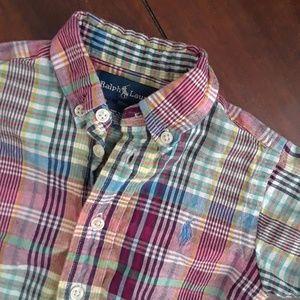 Polo by Ralph Lauren boys Plaid Button Shirt 12mos